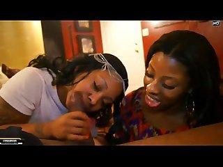 Head clinic sloppy two women blow guy