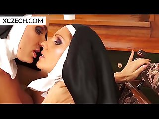 Two lesbian nuns playing togather xczech com