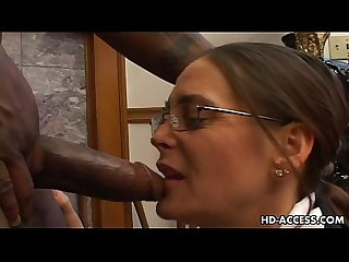 Experienced cheyenne hunter milks a bbc dry period