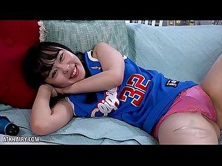 Shy cheerleader Yukina Kaname fingers bush