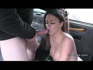 Pierced cunt beauty bangs in fake taxi