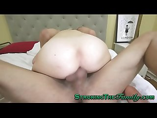 Teen gets taboo creampie