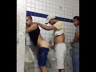 Indian gay in public Toilet