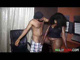 Nice Foreplay And Hardcore Sex After Shave In The Office - NOLLYPORN