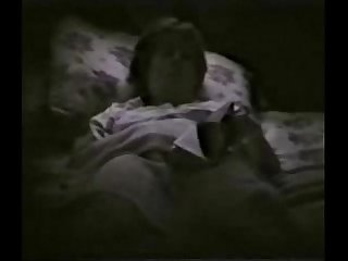 My horny mum fingering on bed reading a book hidden cam