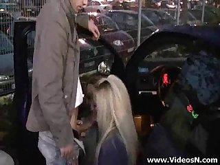 Two girls fucked by a stranger at the parking lot