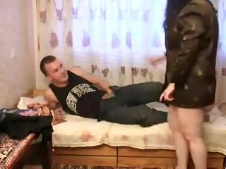 Russian mature mom and son