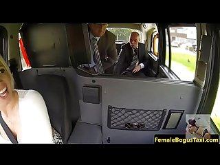 Taxi girl big boops fuck hardcore