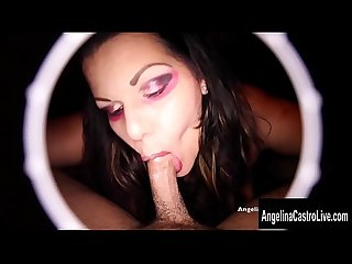 Angelina Castro Make a Deal for A Mouthful Of Cock!