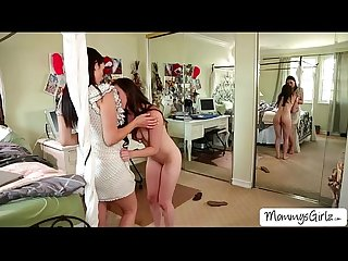 Slutty ladies Casey and Jelena goes 69 pussy licking