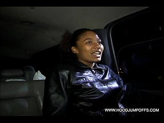 Ghetto thot suck cock gets fucked in the ass while driving in our car