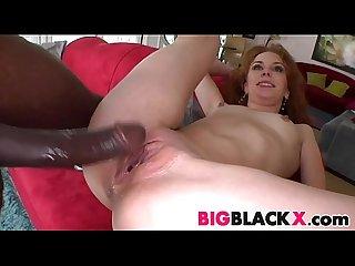 Sexy redhead Laila Mason vs big black cock