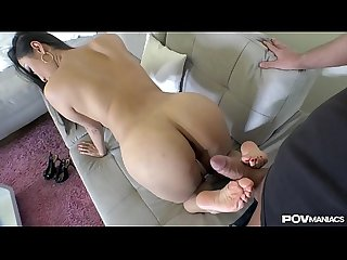 POV Maniacs Get Their Money's Worth When Sharon Lee Provides Footjob