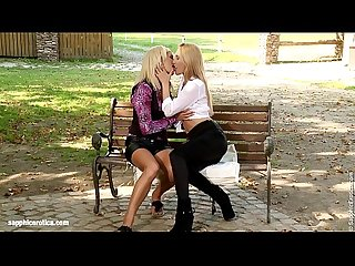 Park passion by sapphic erotica sensual lesbian sex scene with claudia and sun