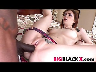 Redhead indigo augustine nailed by big black dick