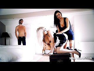 Jasmine jae and slutty maid tamara grace get off in a hot threeway