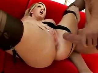 Booby whore vicky blows off dude in front of husband