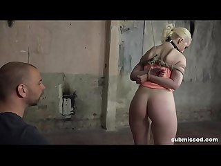 Blonde babe Lovita Fate tied whipped and vibed