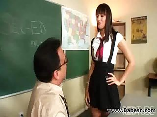 Mature teacher fucking her student