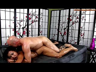 Adrian maya gives erotic oil body on body massage and more