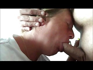 Nasty Amateur MILF Blowjob sucks his cock