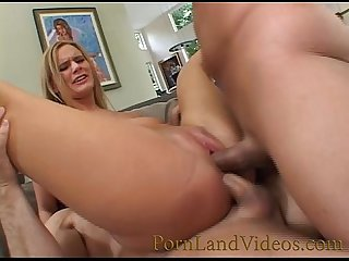 blonde bitch fucking big cocks dp threesome sex