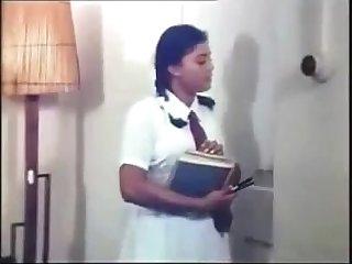 Lankan Aunty bath