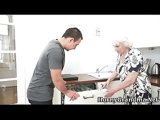 Mature grannys mouth cum