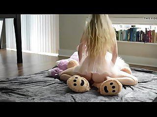 Petite young blonde riding a teddy evilcams net