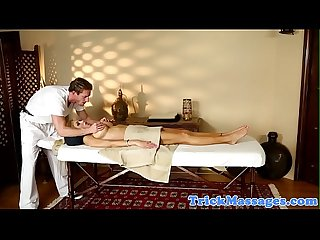 Busty milf doggystyled after a massage