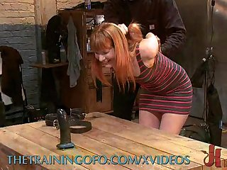 Hardcore BDSM Training of Red Head
