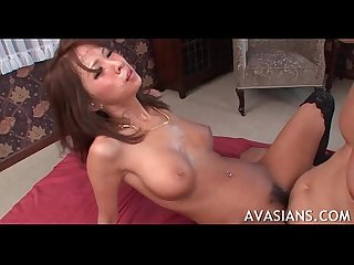 Great asian ass boned and filled with cum
