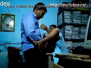 Desi slim secretary fucked by boss in office