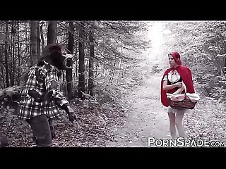 Little Red Riding Hood fucked on the sweet forest trail
