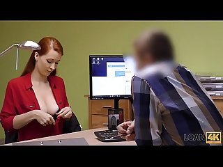 Loan4k period agent in credit company loves boobs of his gorgeous customer