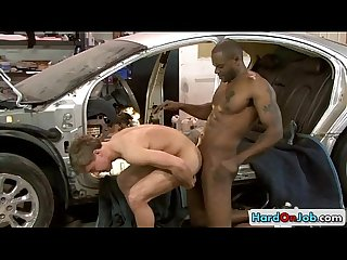 Dude gets ass rimmed by black guy by hardonjob