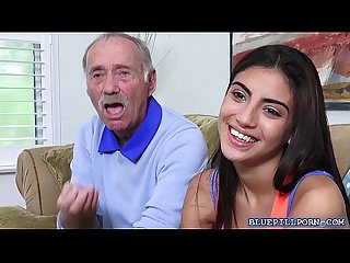 Old man takes viagra and licks michelle martinez wet teen pussy