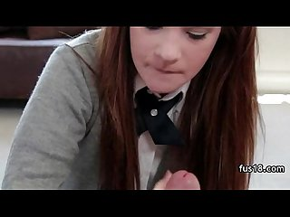 Girl in School Uniform gets assfucked