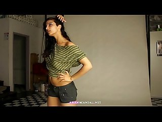 Indian porn videos of sexy teen in shorts giving her audition
