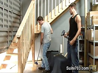 Gays evan and krys lick asscracks and suck dicks at work only on suite703