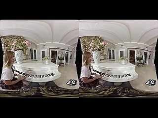 Schoolgirl seduces her piano teacher vr