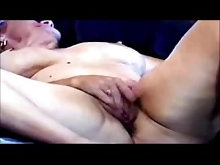 Horny mature woman masturbating on cam