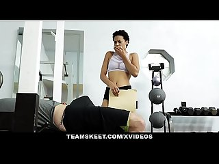 Therealworkout sexy personal assistant fucks client
