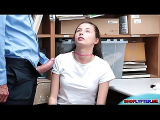 Shoplifter carolina sweets fucks a huge cock