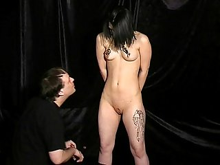 Teen amateur slavegirl punishment of slim submissive pixie