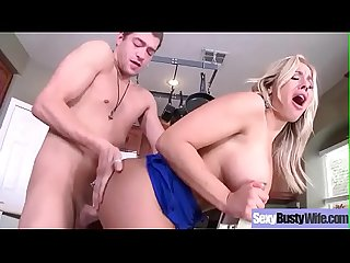 Hardcore Sex Tape With Slut Big Melon Boobs Housewife (Olivia Austin) video-22