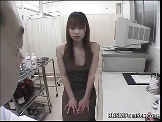 Sweet Asian slut enjoys in painful