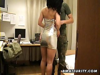 Amateur milf sucks and fucks in a hotel room