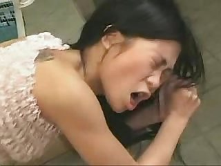 Cute asian deep anal