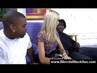 Busty blonde babes banged by monster black cocks 10